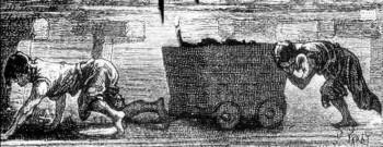 DES ENFANTS DANS DES MINES DE CHARBON AU XIXe siècle.