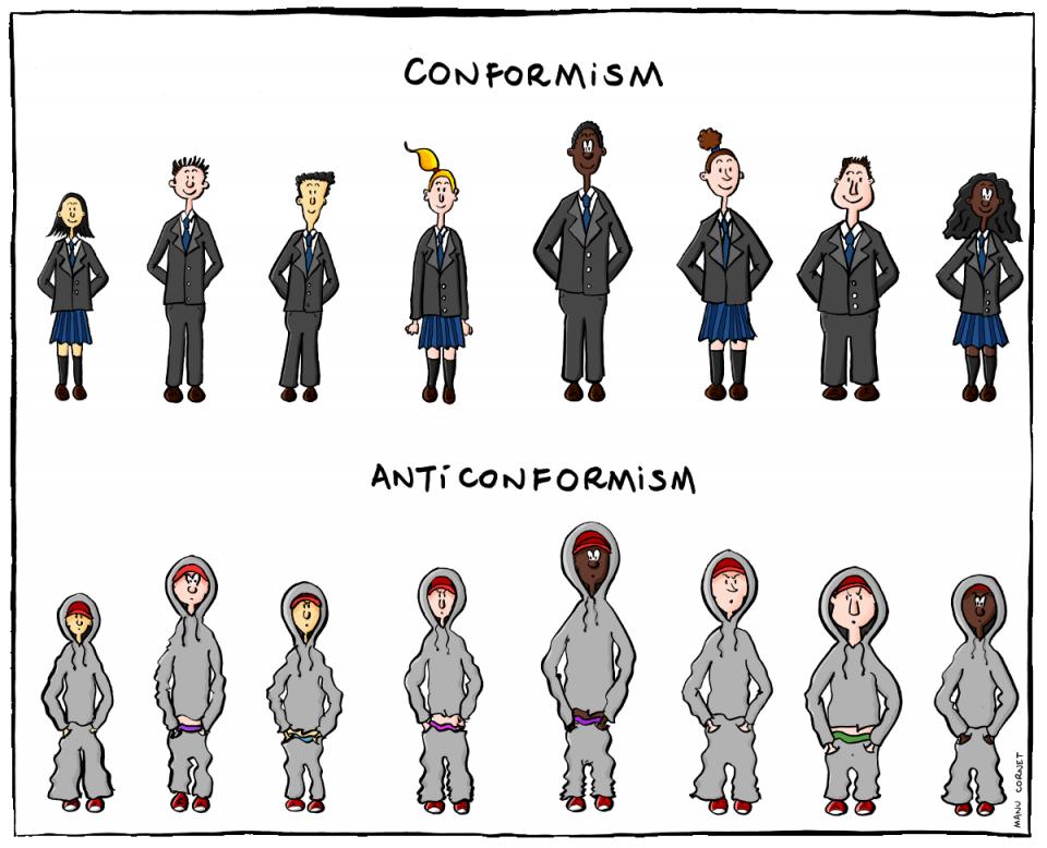 Me conformer à l'anticonformisme me rend-t-il conformiste ?